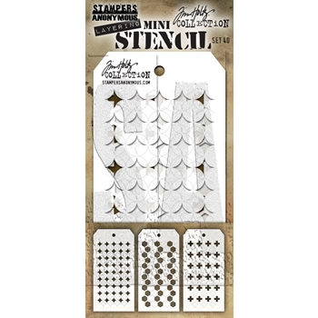Tim Holtz Shifter MINI STENCIL SET 40 MST040