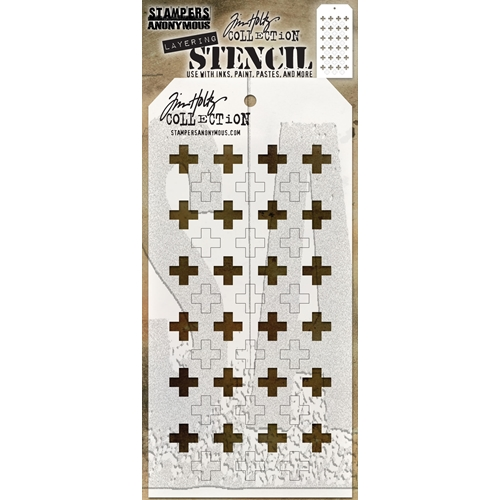 Tim Holtz Layering Stencil SHIFTER PLUS THS122 Preview Image