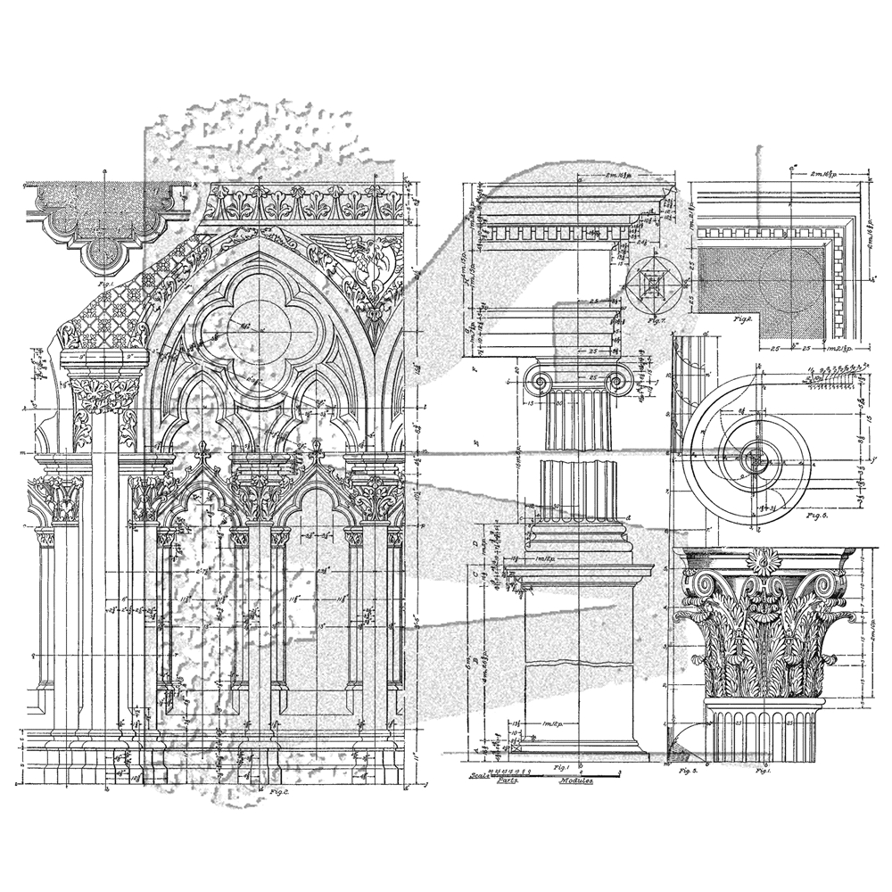 Tim Holtz Cling Rubber Stamps ARCHITECTURE CMS369 zoom image