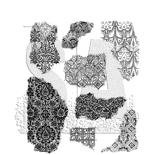 Tim Holtz Cling Rubber Stamps FRAGMENTS CMS368 Preview Image