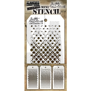 Tim Holtz MINI STENCIL SET 39 MST039