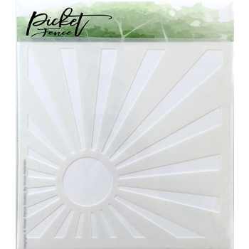 Picket Fence Studios SUNBURST Stencil sc100