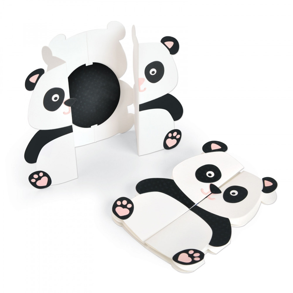 Sizzix PANDA FOLD A LONG Thinlits Die Set 663574* zoom image