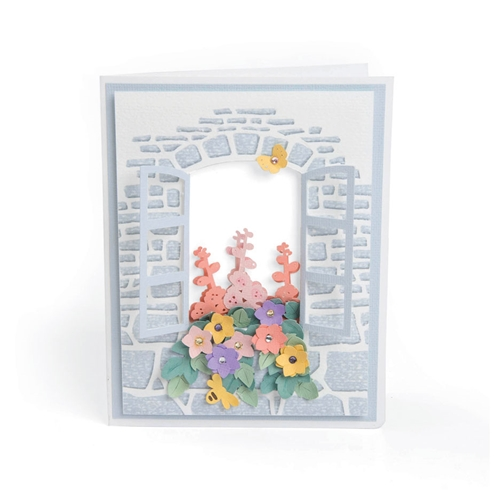 Sizzix WINDOW BOX Impresslits Embossing Folder 663585 Preview Image