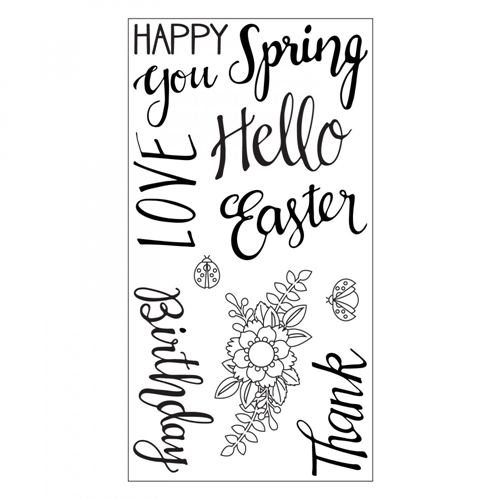 Sizzix Clear Stamps SPRING PHRASES 663587 Preview Image