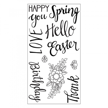 Sizzix Clear Stamps SPRING PHRASES 663587*