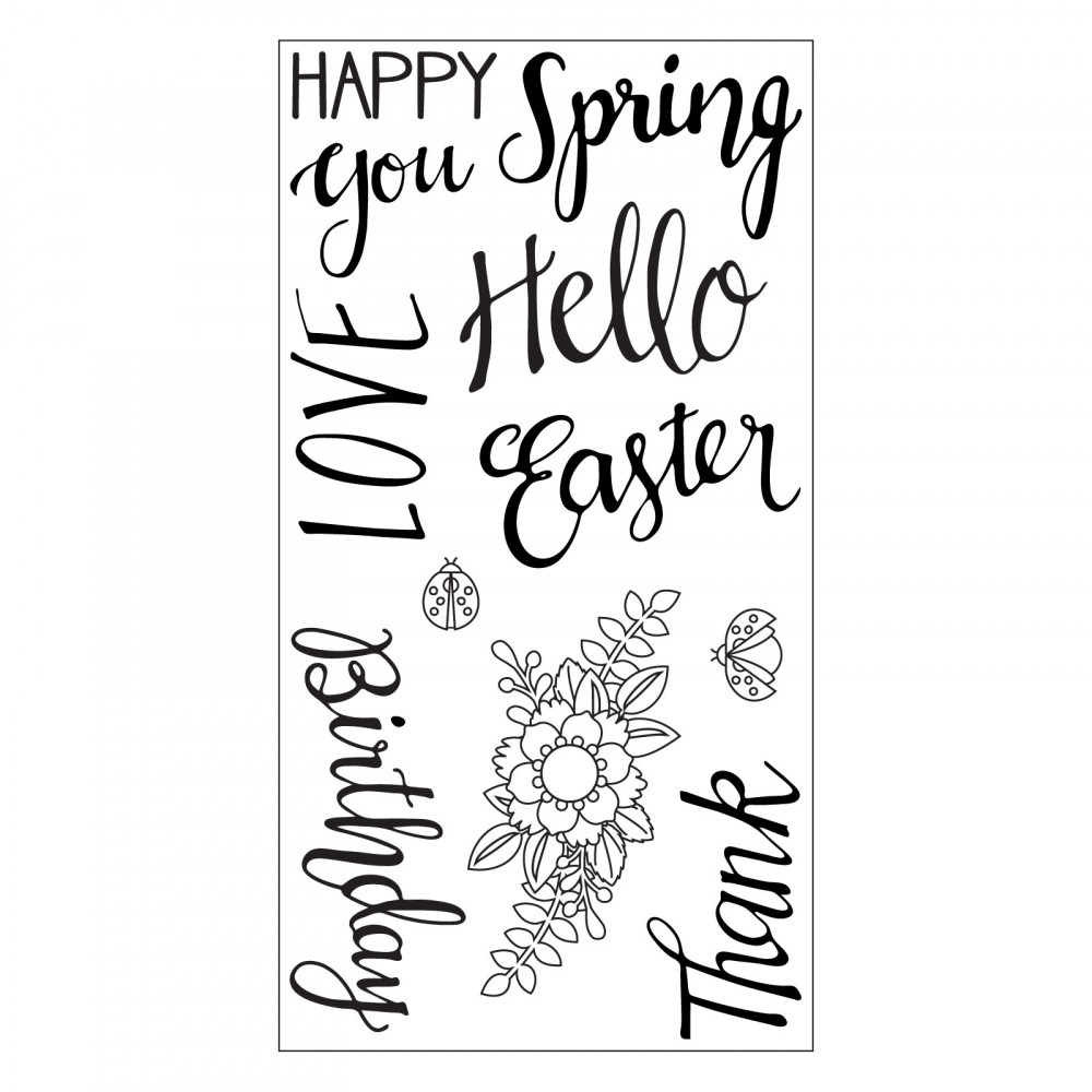 Sizzix Clear Stamps SPRING PHRASES 663587 zoom image