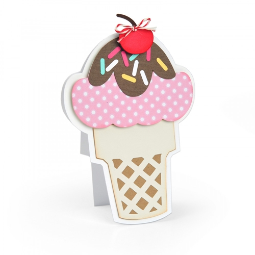Sizzix ICE CREAM FOLD ITS Framelits Die Set 664114* Preview Image