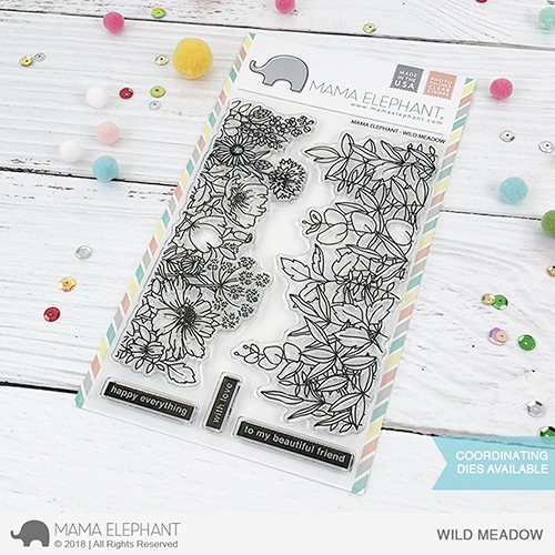 Mama Elephant Clear Stamps WILD MEADOW  Preview Image