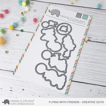 Mama Elephant FLYING WITH FRIENDS Creative Cuts Steel Dies