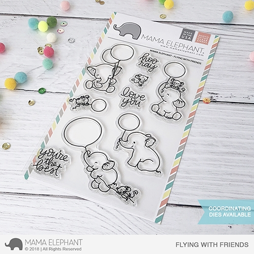 Mama Elephant Clear Stamps FLYING WITH FRIENDS Preview Image