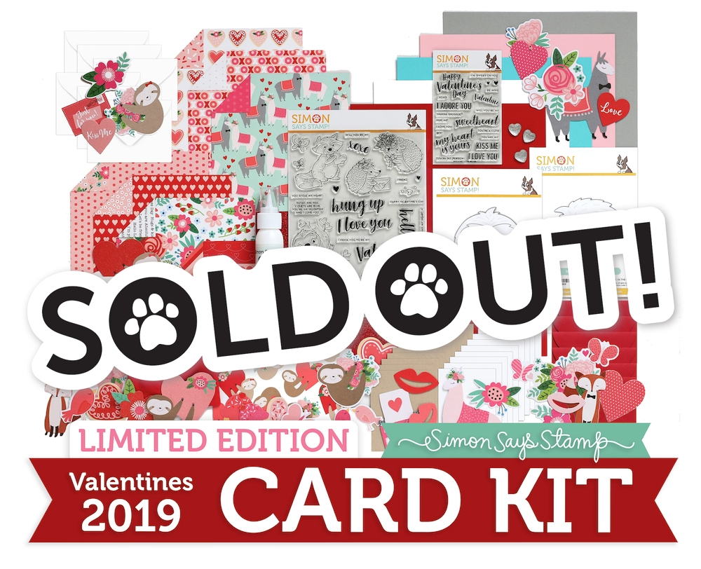 Limited Edition Simon Says Stamp Card Kit VALENTINES 2019 sssvck19 zoom image