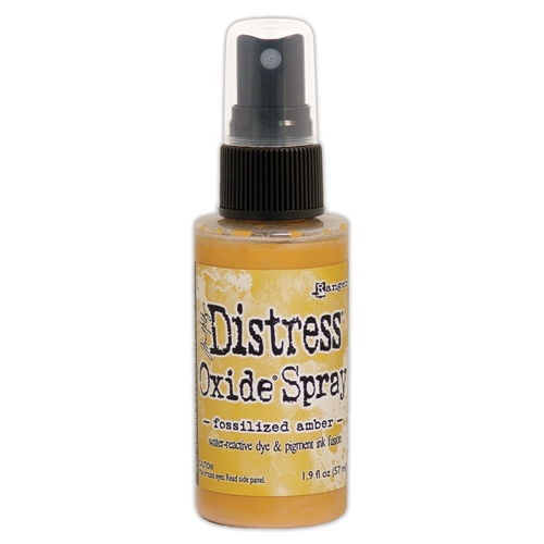 Tim Holtz Distress Oxide Spray FOSSILIZED AMBER Ranger tso64756 Preview Image