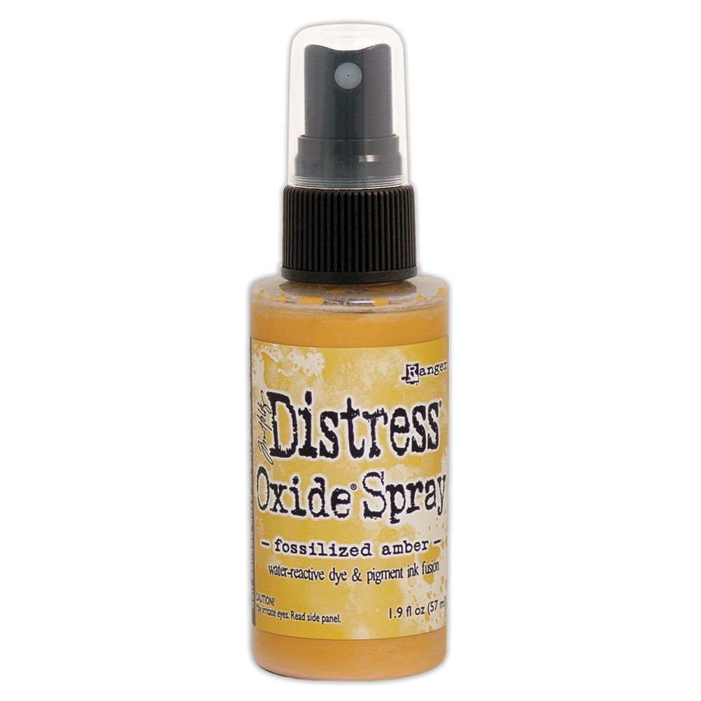 Tim Holtz Distress Oxide Spray FOSSILIZED AMBER Ranger tso64756 zoom image