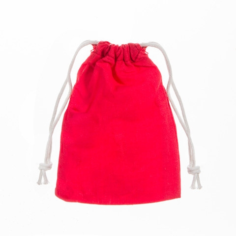 Darice 5 RED FABRIC BAGS 30030323 zoom image