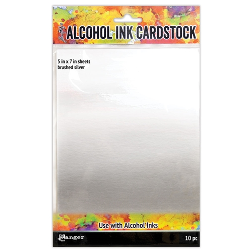 Tim Holtz Brushed Silver Alcohol Ink Card Stock