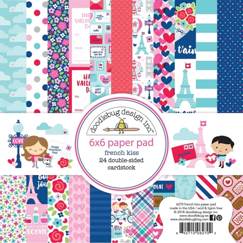 Doodlebug French Kiss 6x6 Paper Pack