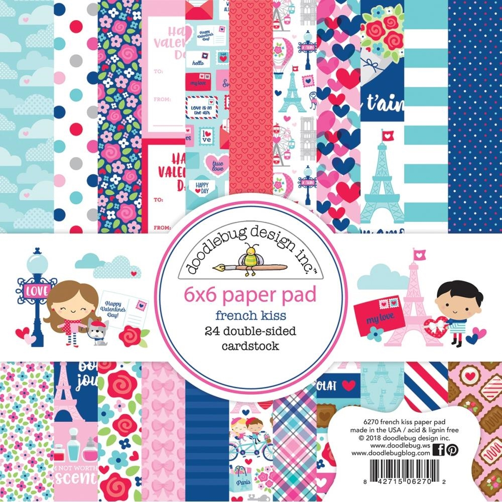 Doodlebug FRENCH KISS 6x6 Inch Paper Pad 6270 zoom image