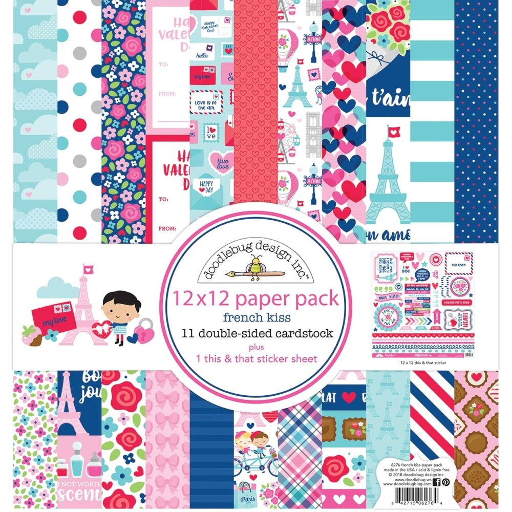 Doodlebug FRENCH KISS 12x12 Inch Paper Pack 6276 zoom image