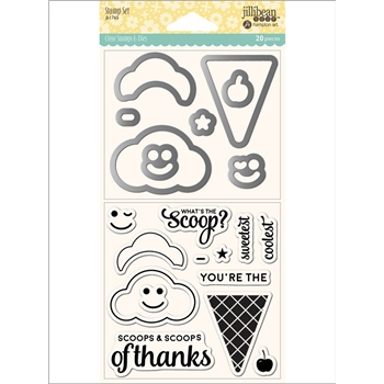 Jillibean Soup ICE CREAM Clear Stamp and Die Set jb1765