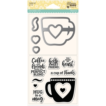Jillibean Soup HUG IN A MUG Clear Stamp and Die Set jb1774