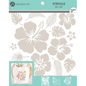 Hampton Art TROPICAL 8x9 Stencils ac1022*