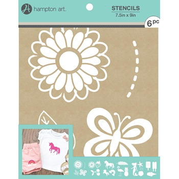 Hampton Art GOOD VIBES 7.5x9 Kraft Paper Stencils ac1015*