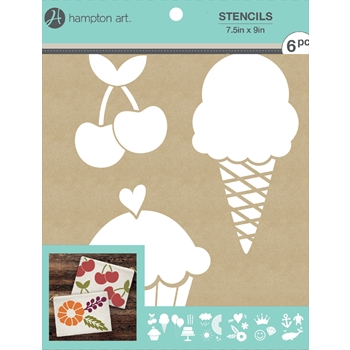 Hampton Art EVERYDAY 7.5x9 Kraft Paper Stencils ac1016*