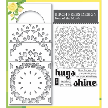 Birch Press Design SHINING MANDALA Stamp and Stencil Set 54001
