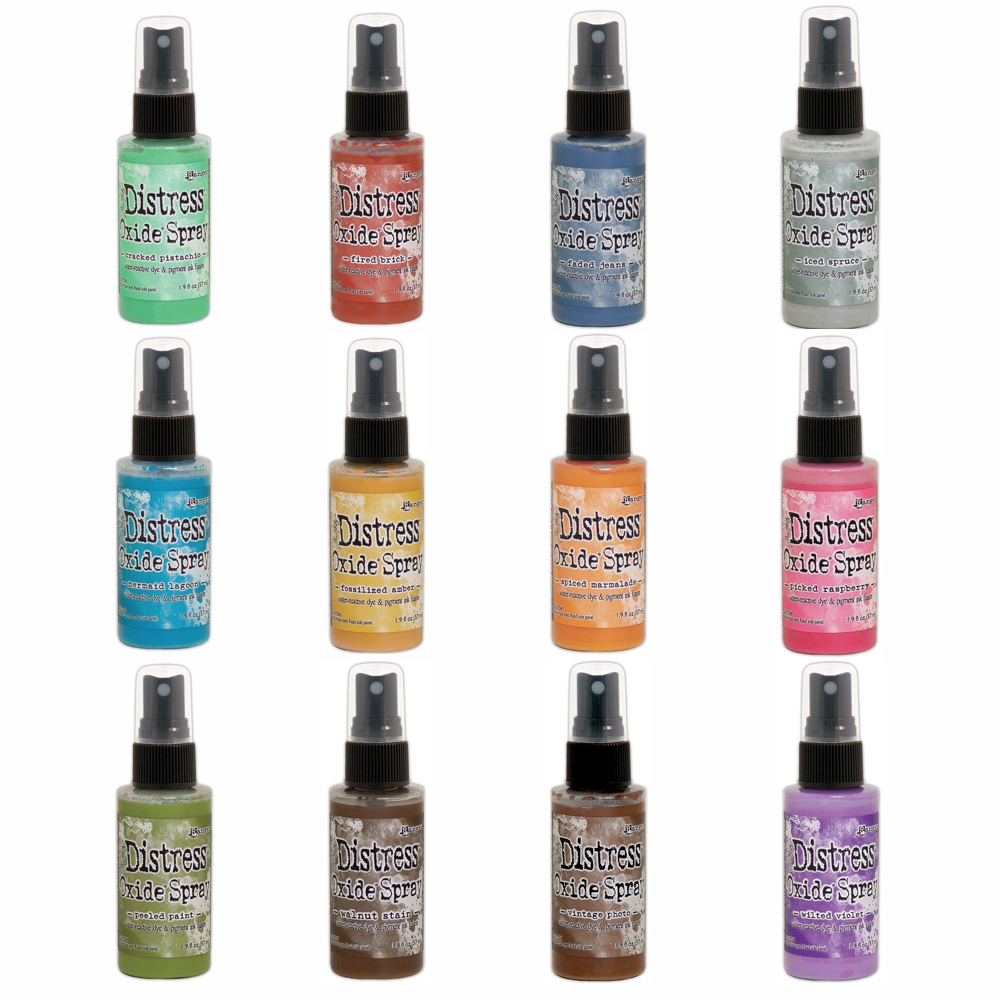 Tim Holtz Distress OXIDE SPRAY SET OF 12 Ranger thoxs19  zoom image