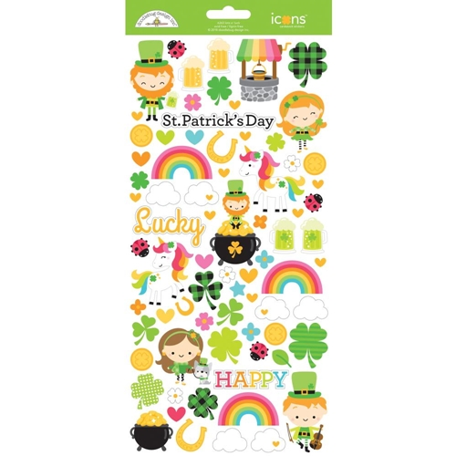 Doodlebug LOTS O' LUCK ICONS Cardstock Stickers 6263 Preview Image