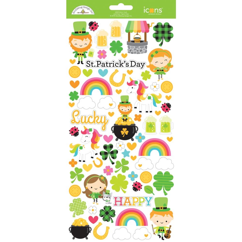 Doodlebug LOTS O' LUCK ICONS Cardstock Stickers 6263 zoom image