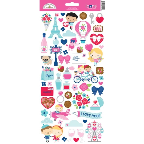Doodlebug FRENCH KISS ICONS Cardstock Stickers 6262 Preview Image