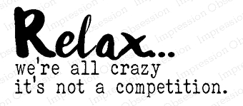 Impression Obsession Cling Stamp RELAX C17253 Preview Image