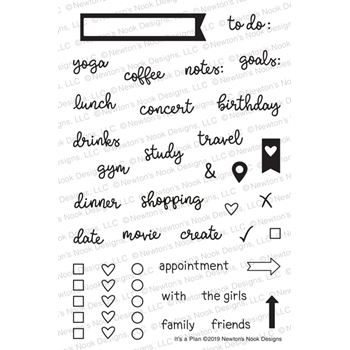 Newton's Nook Designs IT'S A PLAN Clear Stamps NN1901S05*