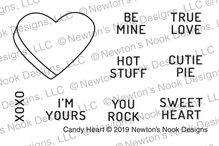 Newton's Nook Designs CANDY HEARTS Clear Stamps NN1901S03
