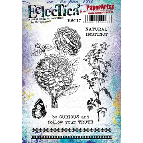 Paper Artsy ECLECTICA3 SCRAPCOSY 17 Cling Stamp esc17* Preview Image
