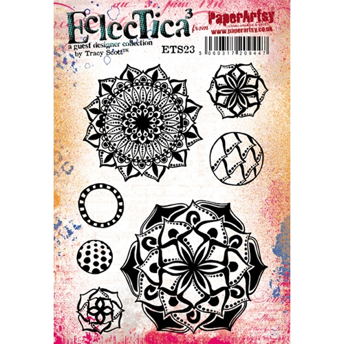 Paper Artsy ECLECTICA3 TRACY SCOTT 23 Cling Stamp ets23 Preview Image