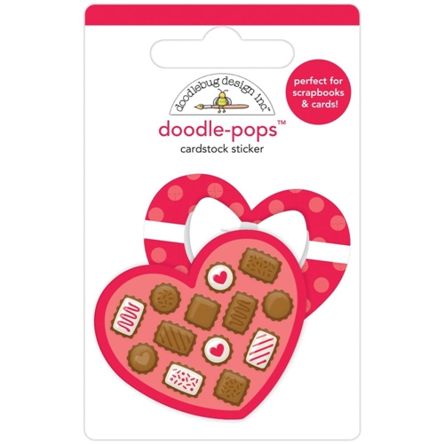 Doodlebug SWEETHEART Doodle Pops 3D Sticker French Kiss 6230 Preview Image