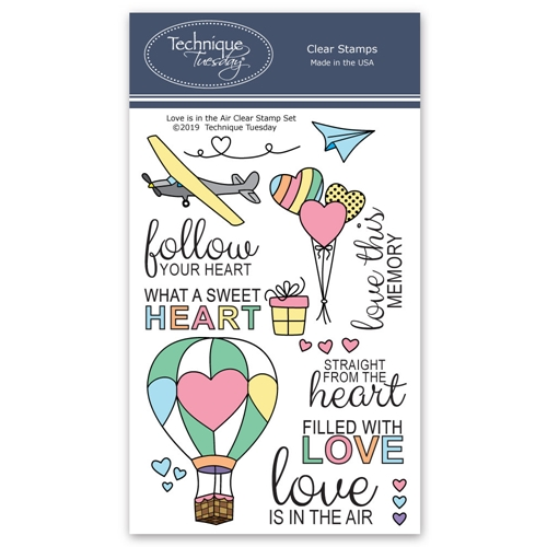 Technique Tuesday LOVE IS IN THE AIR Clear Stamps 02751* Preview Image