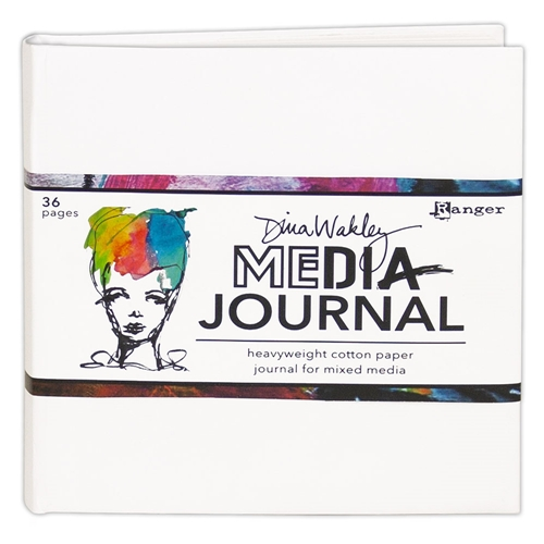 Ranger Dina Wakley Media 6 x 6 WHITE JOURNAL mdj61106 Preview Image