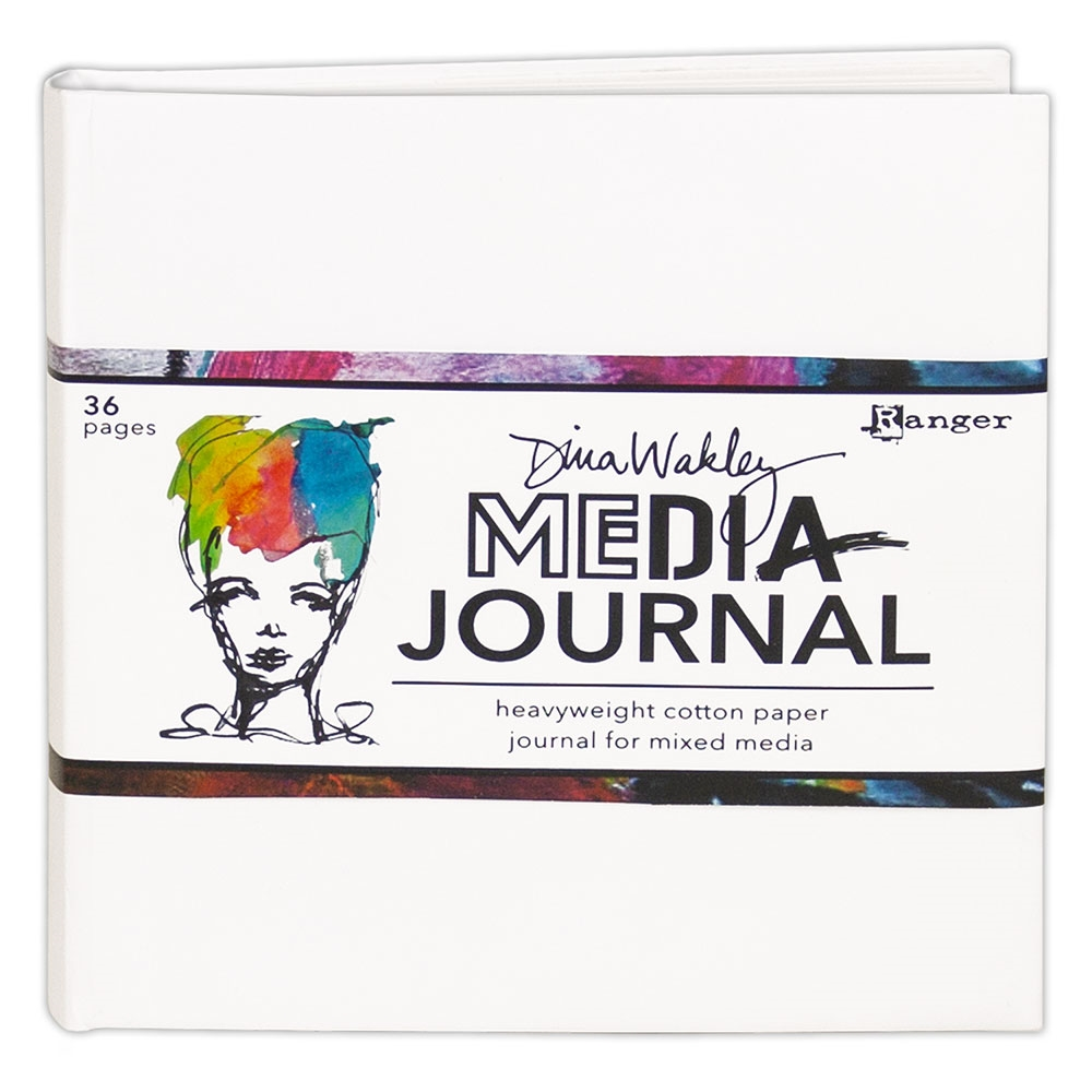 Ranger Dina Wakley Media 6 x 6 WHITE JOURNAL mdj61106 zoom image