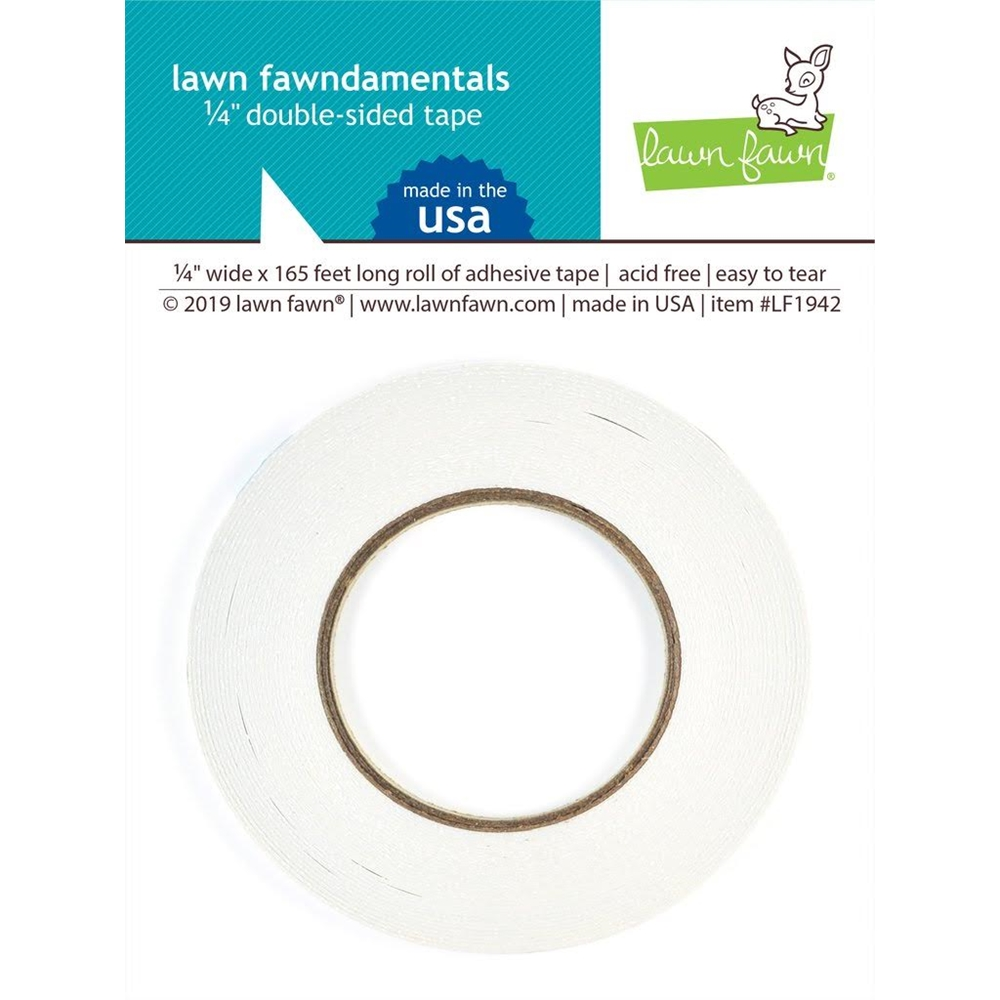 Lawn Fawn 0.25 INCH DOUBLE SIDED TAPE Adhesive LF1942 zoom image