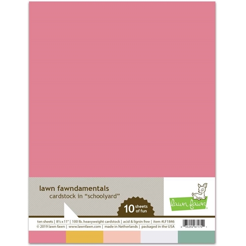 Lawn Fawn SCHOOLYARD Cardstock Assortment Pack LF1846 Preview Image