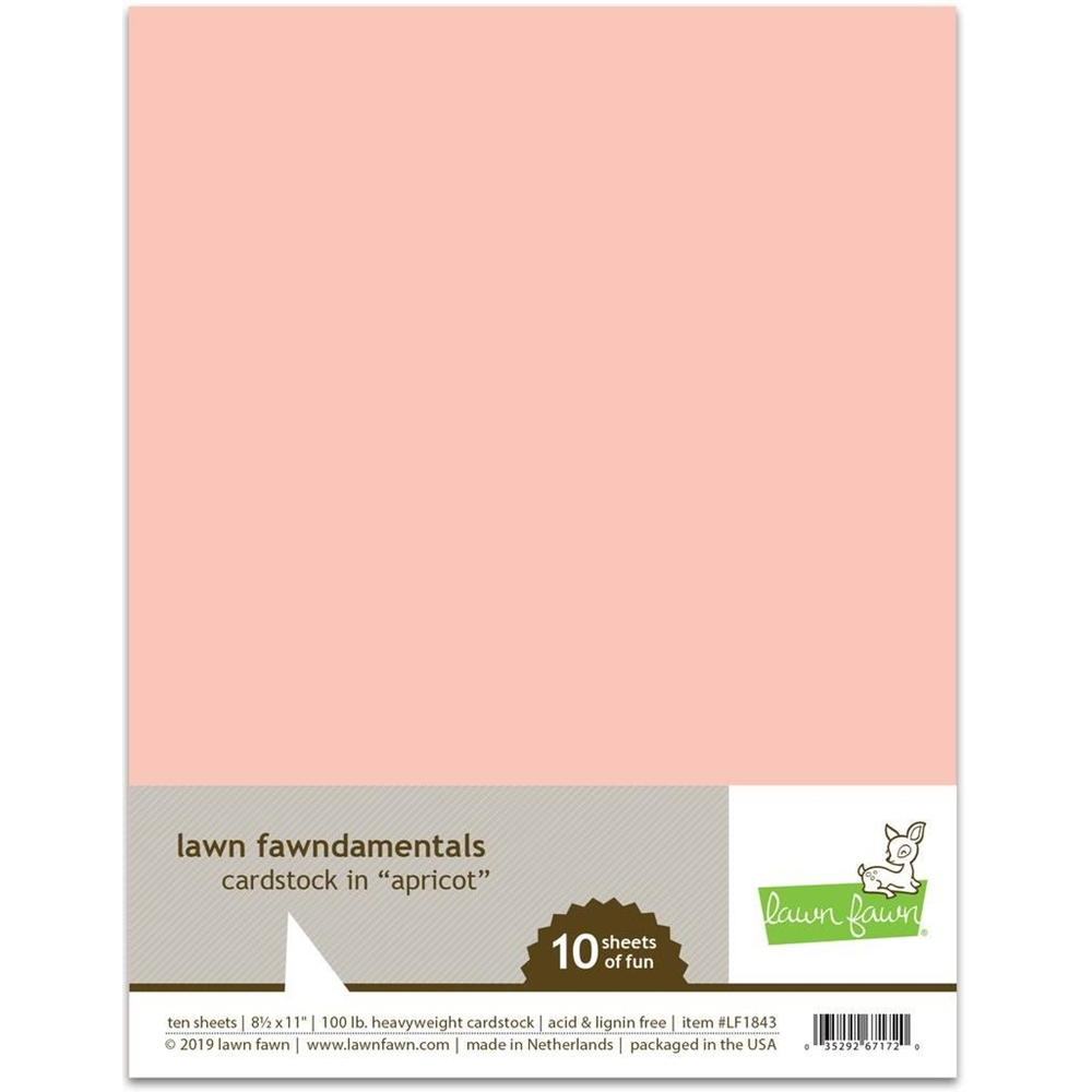 Lawn Fawn APRICOT Cardstock LF1843 zoom image