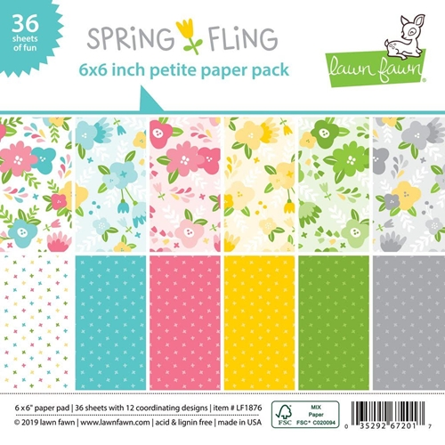 Lawn Fawn SPRING FLING 6x6 Inch Petite Paper Pack LF1876 Preview Image