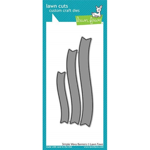 Lawn Fawn SIMPLE WAVY BANNERS Die Cuts LF1924 Preview Image