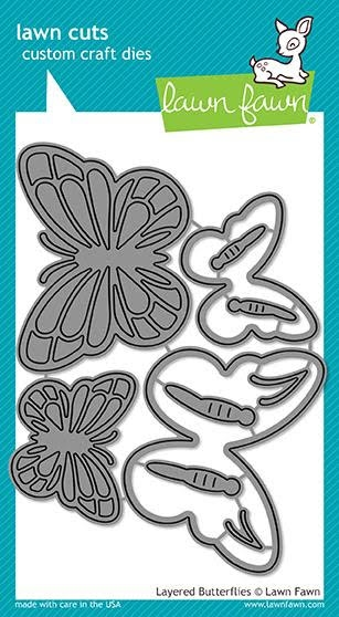 Lawn Fawn LAYERED BUTTERFLIES Die Cuts LF1913 zoom image