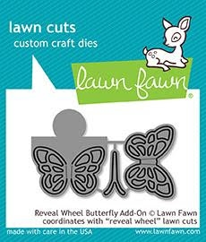 Lawn Fawn REVEAL WHEEL BUTTERFLY ADD-ON Die Cuts LF1910