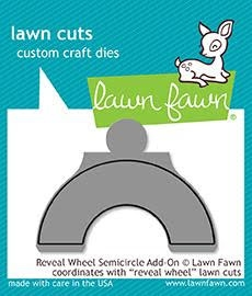 Lawn Fawn REVEAL WHEEL SEMICIRCLE ADD-ON Die Cut LF1909 Preview Image